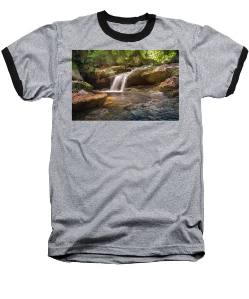 Flooded Waterfall In The Forest Baseball T-Shirt