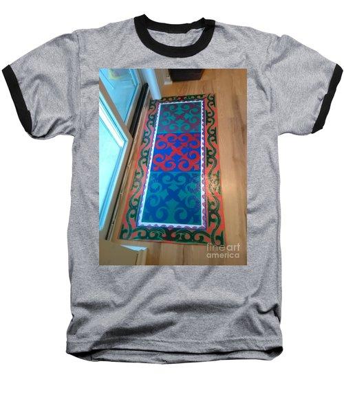 Floor Cloth Arabesque Baseball T-Shirt by Judith Espinoza