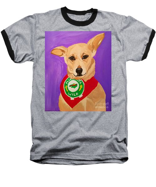 Baseball T-Shirt featuring the painting Floppy Ear by Ania M Milo