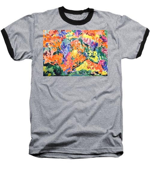 Flora Ablaze Baseball T-Shirt by Esther Newman-Cohen