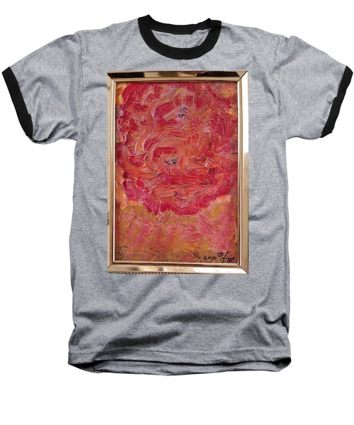 Floral Abstract 1 Baseball T-Shirt