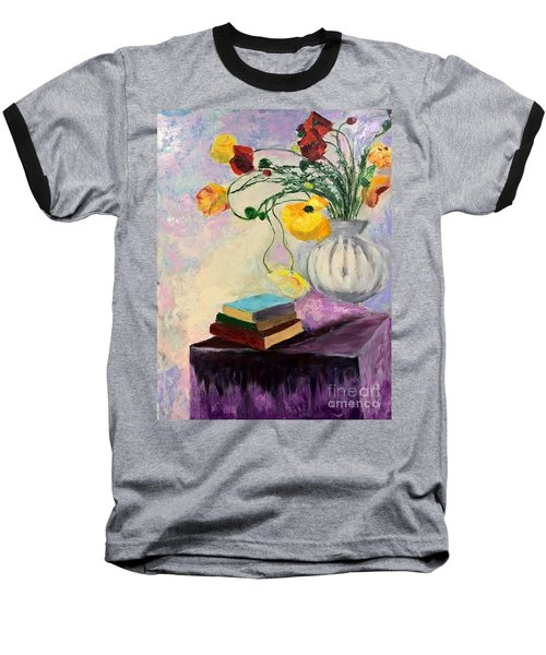 Floral Abstract Baseball T-Shirt