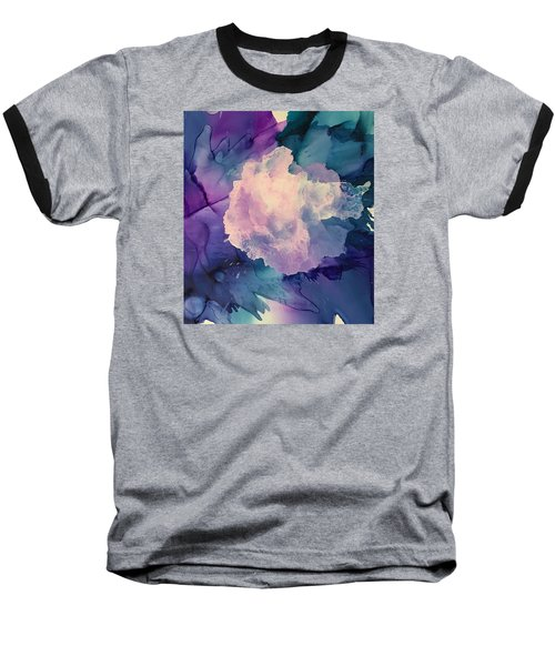 Baseball T-Shirt featuring the painting Floral Abstract by Suzanne Canner