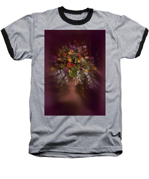 Floral Arrangement No. 2 Baseball T-Shirt by Richard Cummings