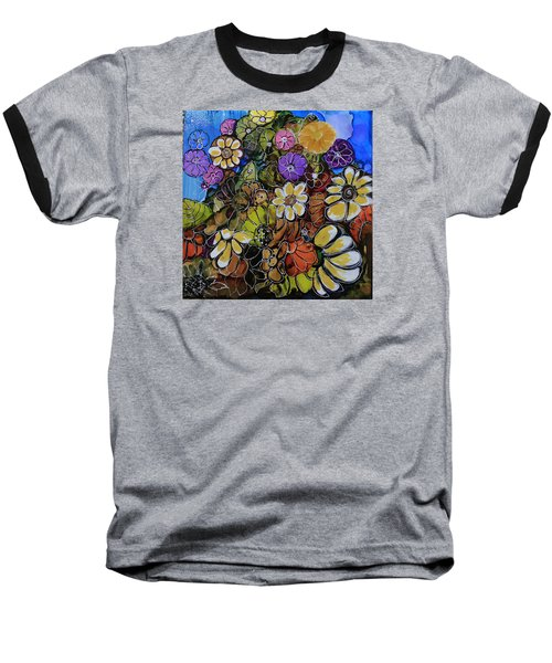 Floral Boquet Baseball T-Shirt by Suzanne Canner