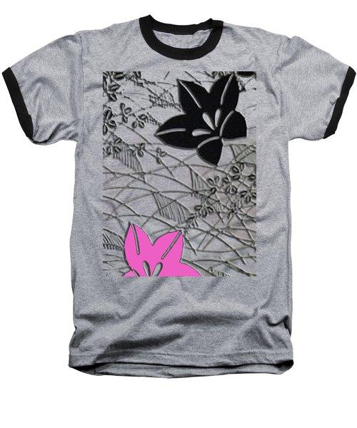 Floral Chirimen Baseball T-Shirt by Asok Mukhopadhyay