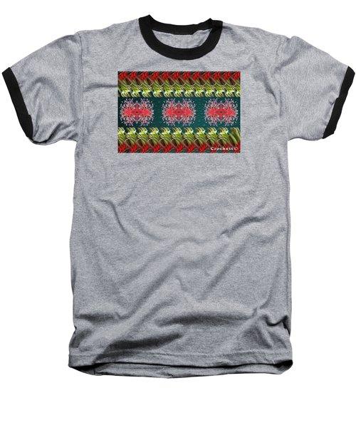 Floral Contemporary Art Baseball T-Shirt by Gary Crockett