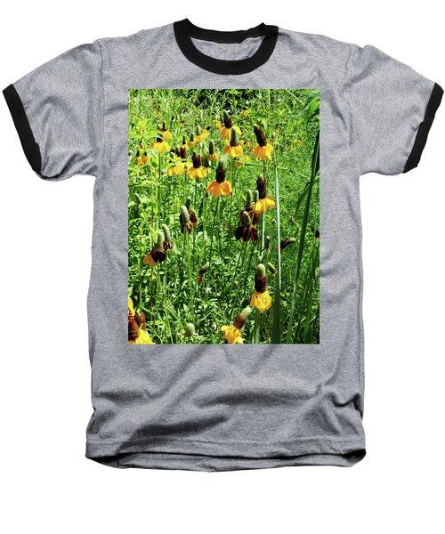 Floral Baseball T-Shirt by Cynthia Powell