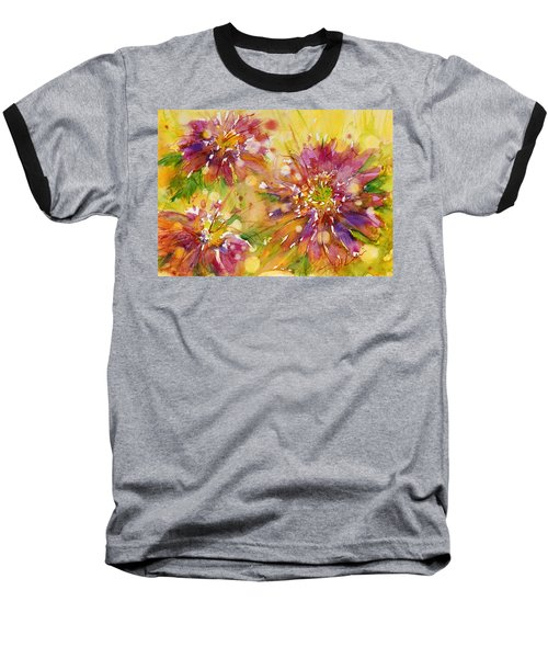 Floral Fireworks Baseball T-Shirt