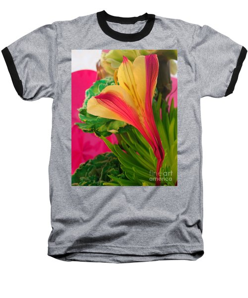 Floral Fusion Baseball T-Shirt