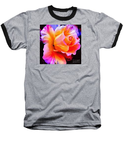 Floral Interior Design Thick Paint Baseball T-Shirt by Catherine Lott
