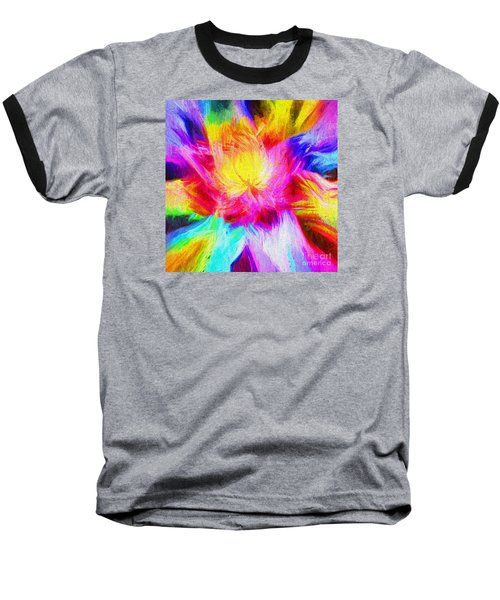 Baseball T-Shirt featuring the photograph Floral Mandala 02 by Jack Torcello