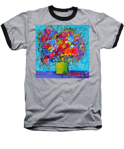 Floral Miniature - Abstract 0415 Baseball T-Shirt
