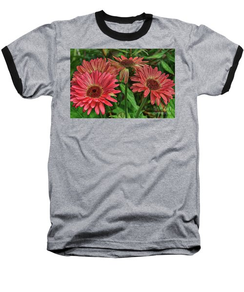 Baseball T-Shirt featuring the photograph Floral Pink by Deborah Benoit