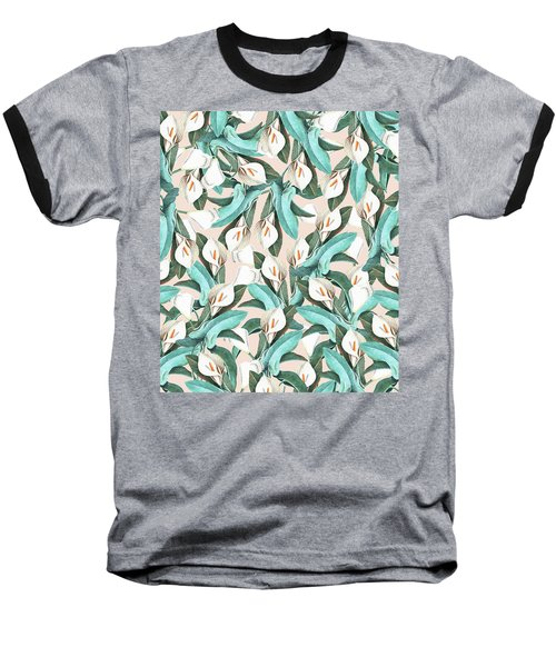 Floral Porn Baseball T-Shirt by Uma Gokhale