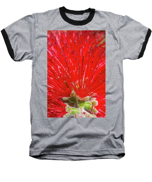 Floral Red Baseball T-Shirt