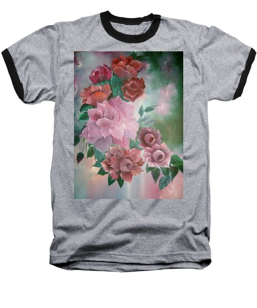 Floral Splendor Baseball T-Shirt
