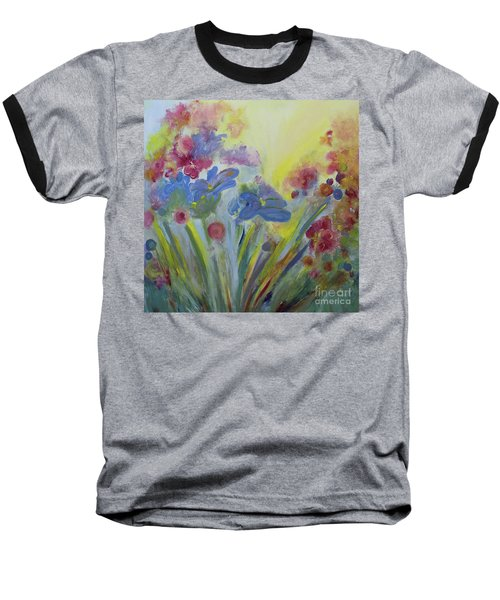 Baseball T-Shirt featuring the painting Floral Splendor by Stacey Zimmerman