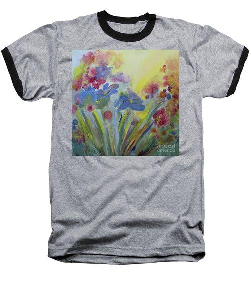 Floral Splendor Baseball T-Shirt by Stacey Zimmerman
