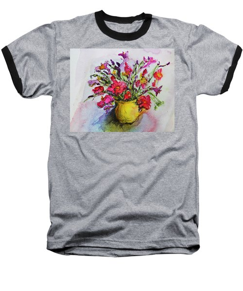 Floral Still Life 05 Baseball T-Shirt by Linde Townsend