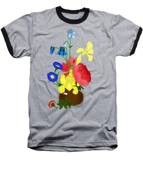 Floral Still Life 1674 Baseball T-Shirt