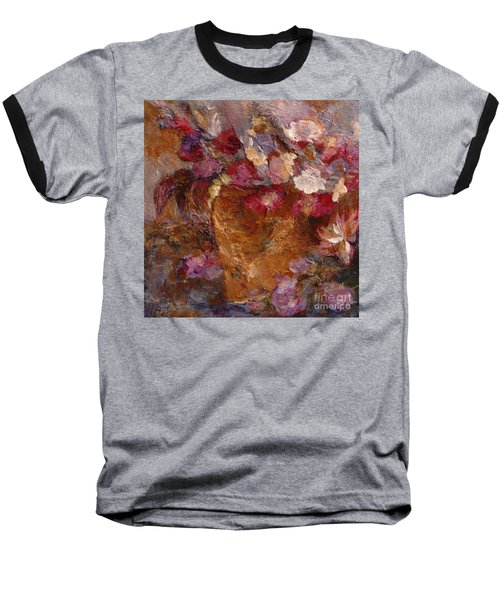 Floral Still Life Pinks Baseball T-Shirt