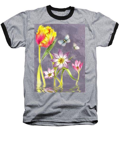 Floral Supreme Baseball T-Shirt