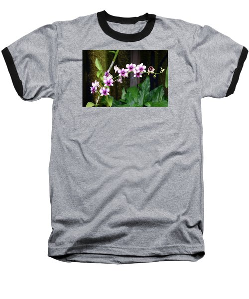 Baseball T-Shirt featuring the photograph Floral Sway by Deborah  Crew-Johnson