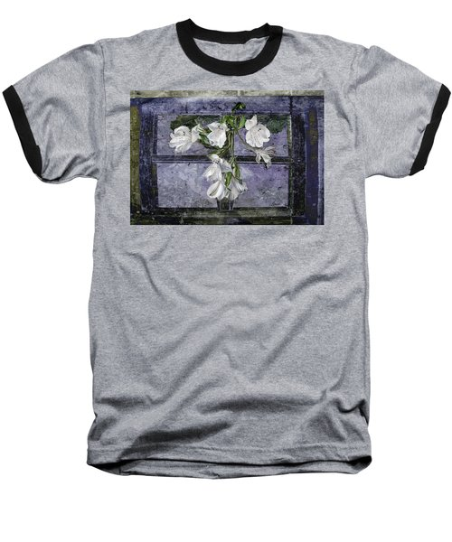 Baseball T-Shirt featuring the photograph Floral Window Frame by Bonnie Willis