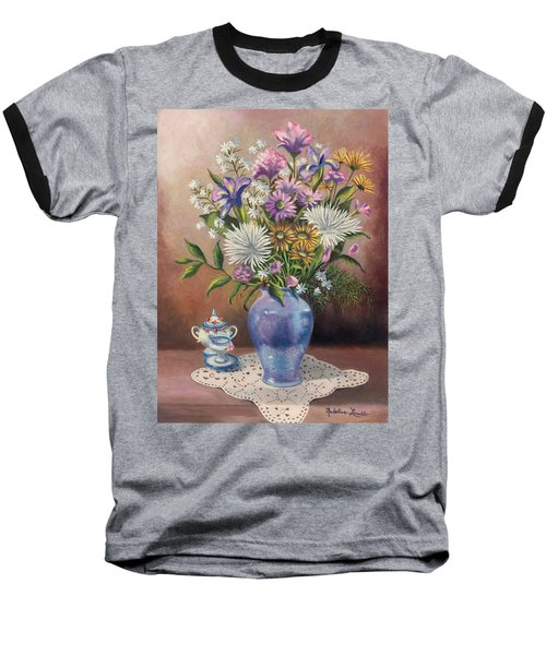 Floral With Blue Vase With Capadamonte Baseball T-Shirt