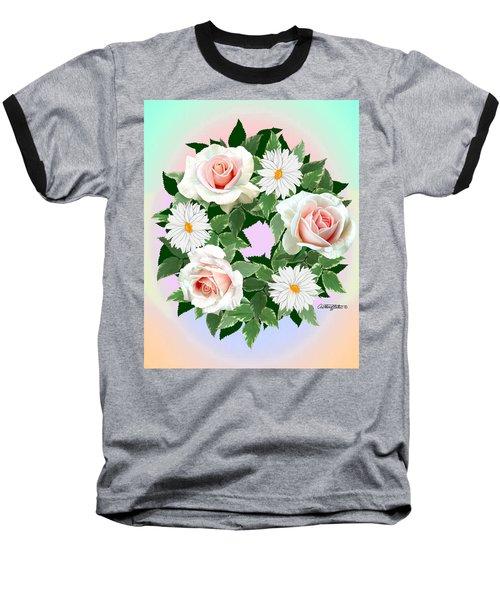 Floral Wreath Baseball T-Shirt