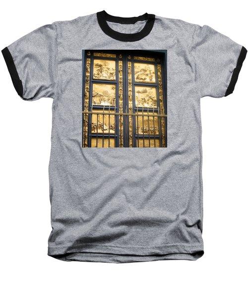 Florence Baptistry Doors Baseball T-Shirt by Lisa Boyd
