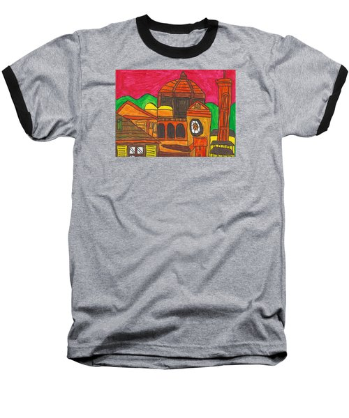 Baseball T-Shirt featuring the painting Florence by Artists With Autism Inc