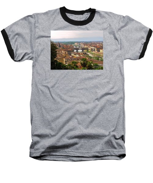 Baseball T-Shirt featuring the photograph Florence Bridges by Haleh Mahbod