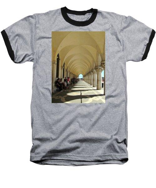 Florence Columns Baseball T-Shirt by Lisa Boyd