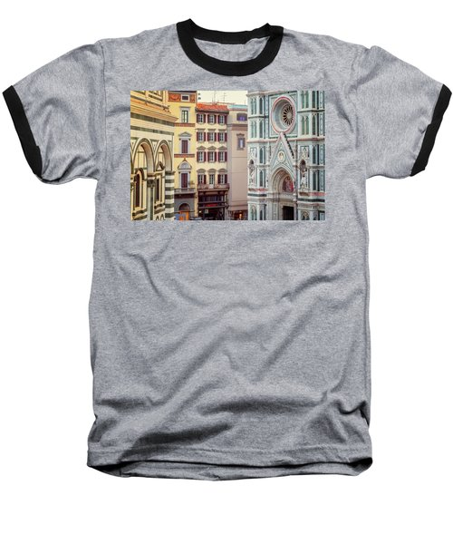 Baseball T-Shirt featuring the photograph Florence Italy View by Joan Carroll