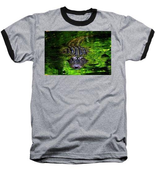 Florida Alligator Encounter Baseball T-Shirt