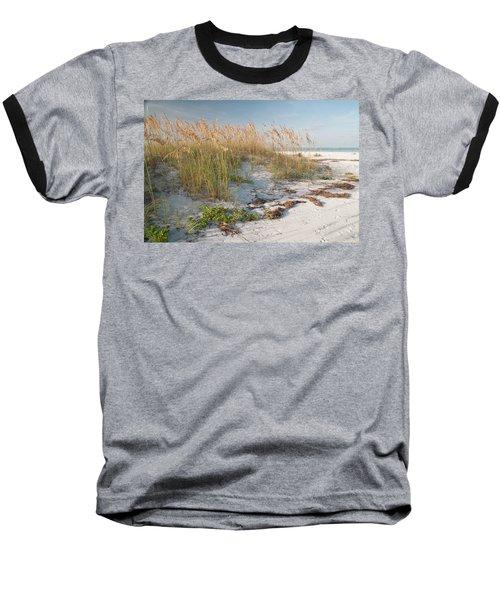 Florida Beach And Sea Oats Baseball T-Shirt