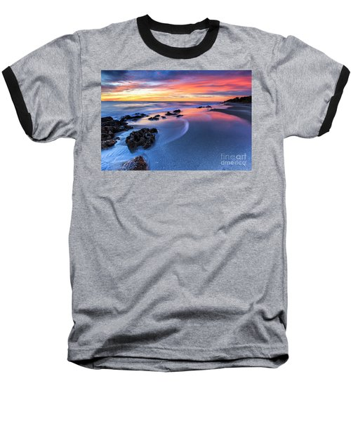 Florida Beach Sunset 4 Baseball T-Shirt