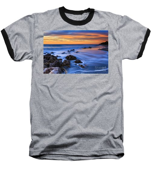 Florida Beach Sunset Baseball T-Shirt