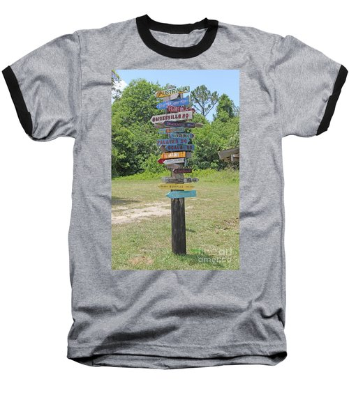 Florida Crossroads 3 Baseball T-Shirt by Dodie Ulery