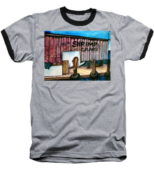 Baseball T-Shirt featuring the painting Florida Fresh by Lil Taylor