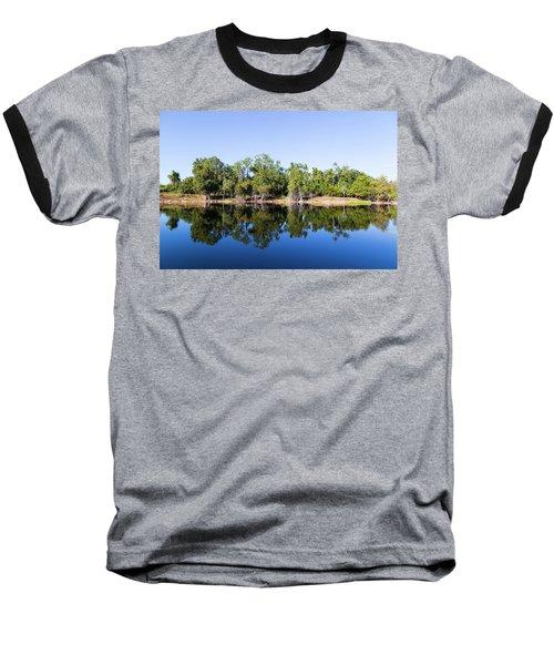 Florida Lake And Trees Baseball T-Shirt