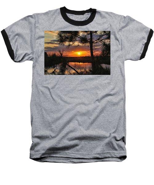 Florida Pine Sunset Baseball T-Shirt