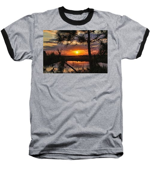Florida Pine Sunset Baseball T-Shirt