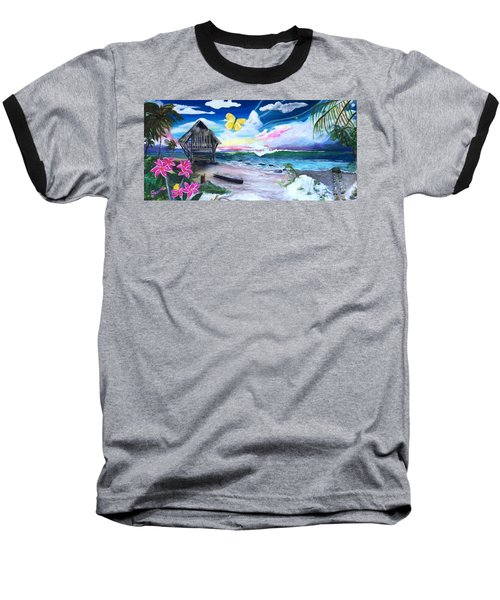 Baseball T-Shirt featuring the painting Florida Room by Dawn Harrell