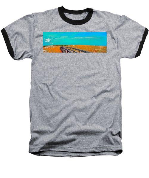 Florida Sand Dunes Atlantic New Smyrna Beach Baseball T-Shirt