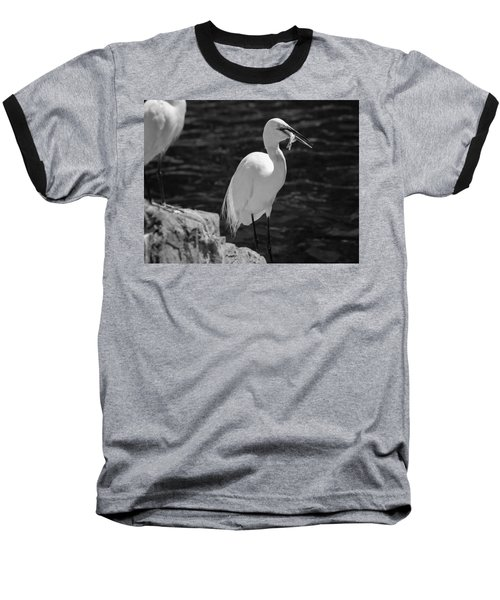 Baseball T-Shirt featuring the photograph Florida White Egret by Jason Moynihan