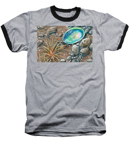 Baseball T-Shirt featuring the painting Flotsam Finds by Val Stokes