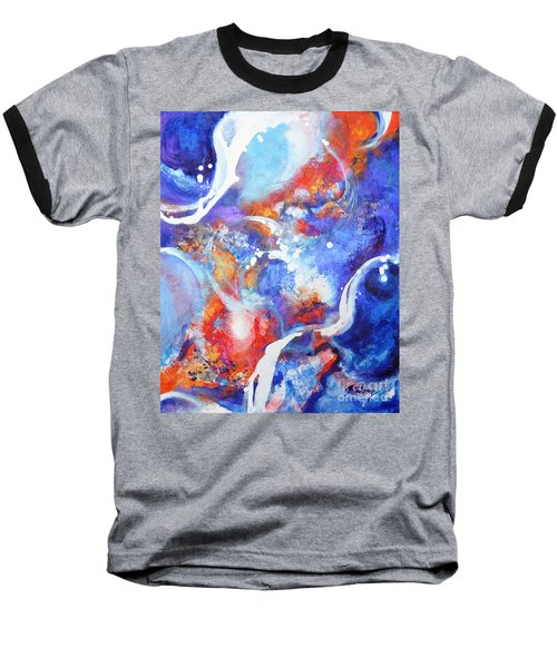 Flow Baseball T-Shirt by Betty M M Wong